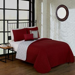 Avondale Manor PIP5QTQUENGHRD Piper 5Pc Quilt Set Queen Red,