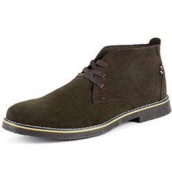 Alpine Swiss Men's Suede Lace Up Chukka Boots - Brown - Size: 11