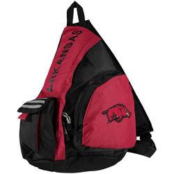 NCAA Arkansas Razorbacks Leadoff Sling Backpack - 20-Inch - Black/Red