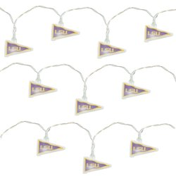 NCAA LSU Tigers LED Pennant Party Lights 11' Long - White