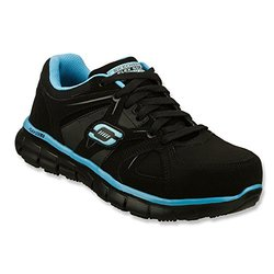 Skechers Women's Work Synergy Sandlot ST - Black/Blue - Size: 5
