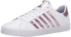 K-Swiss Women's Belmont SO Fashion Sneaker - White/Silver/Pink - Size: 7