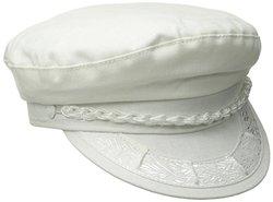 7 5/8 WHT GREEK HAT