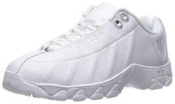 K-Swiss Women's ST329 CMF Training Shoe - White/Silver - Size: 5.5