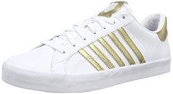 K-Swiss Women's Belmont SO Fashion Sneaker - White/Gold - Size: 9.5 M US