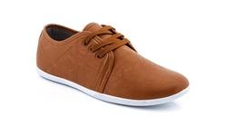 Franco Vanucci Men's Lace Up Sneakers Shoes - Tan - Size: 10.5