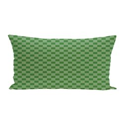 E By Design Geometric Print Outdoor Seat Cushion - Leaf Green