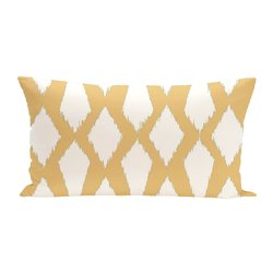 E By Design Geometric Decorative Outdoor Seat Cushion - Yellow