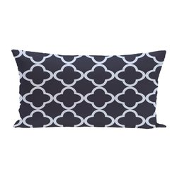 E By Design Marrakech Geometric Print Outdoor Seat Cushion - Bewitching