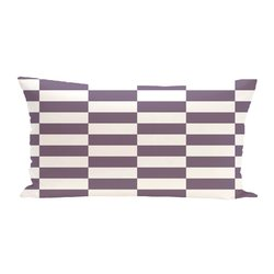 E By Design Stair Stepping Stripes Print Outdoor Seat Cushion - Larkspur