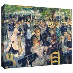 ArtWall 'Ball at The Moulin De La Galette' Gallery-Wrapped Canvas Art by Pierre Renoir, 24 by 32-Inch