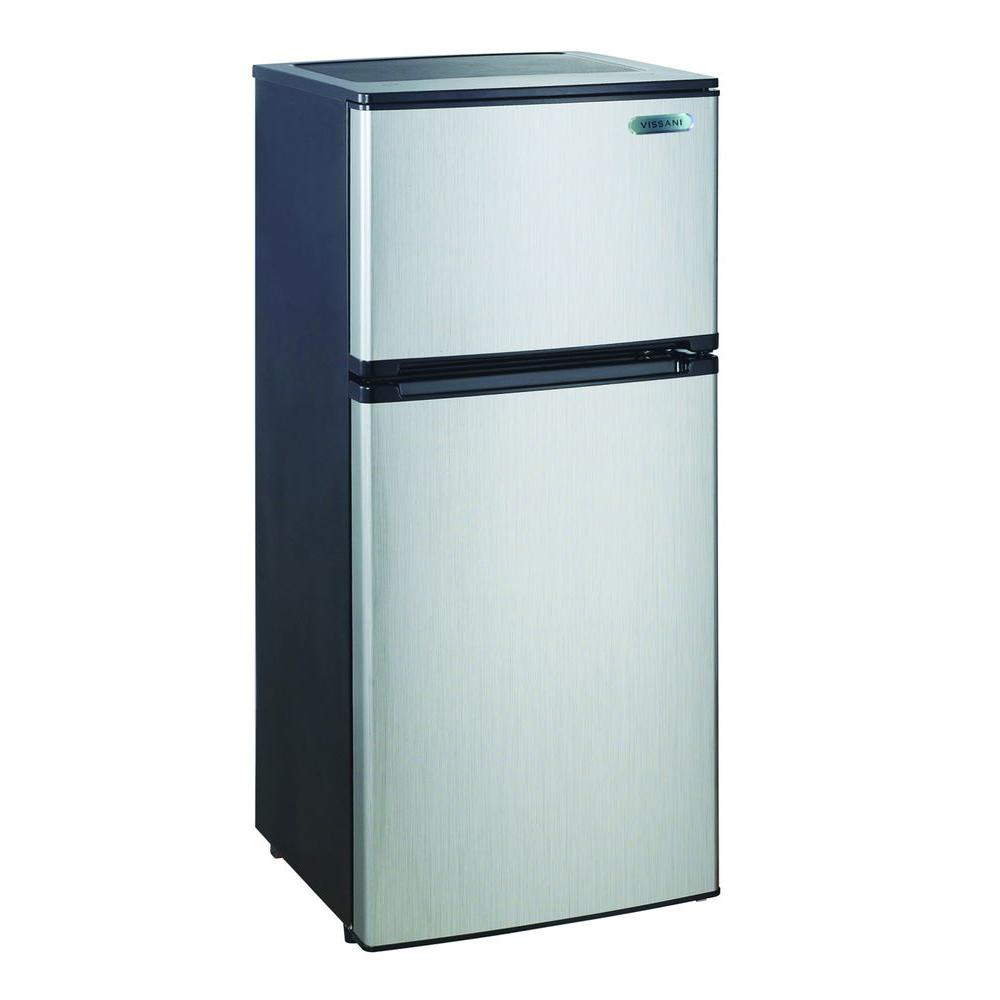... Magic Chef 4.3 Cu. Ft. Mini Refrigerator In Stainless Look (HVDR430SE)  ...