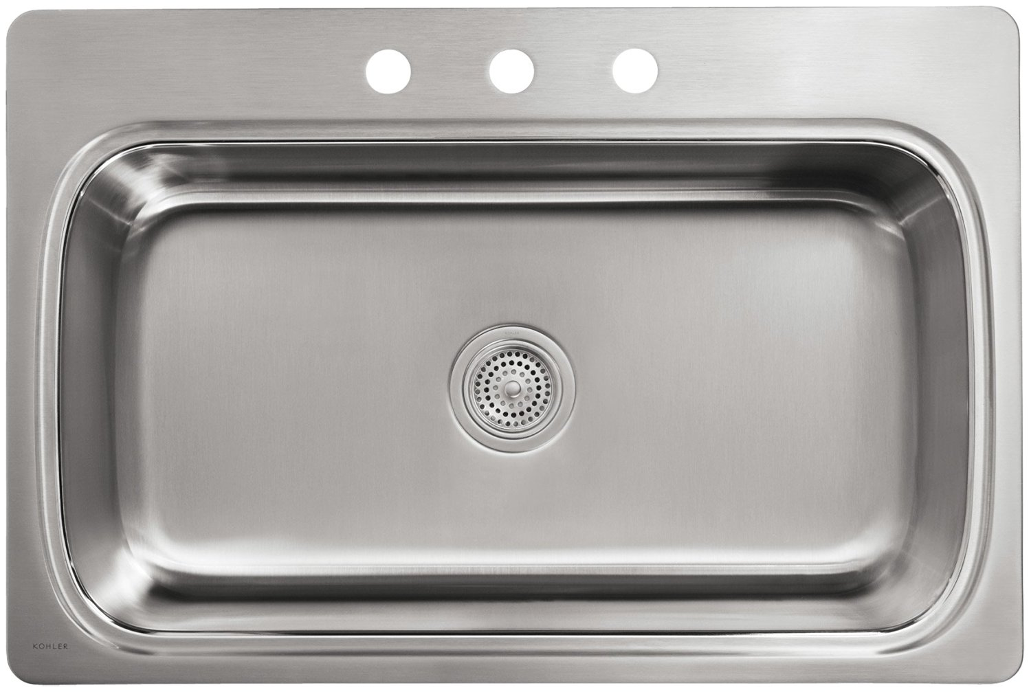 366ea2ec4b ... KOHLER Verse Top Mount Stainless Steel 33