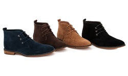 Franco Vanucci Men's Chukka Boots 11378-4 - Black Suede - Size: 7.5