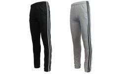Islandia Men's Striped Sweatpants - Heather Grey - Large