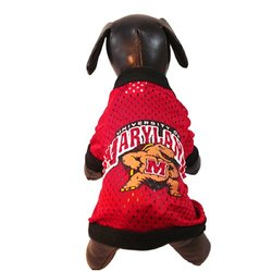 NCAA Maryland Terrapins Athletic Mesh Dog Jersey Team Color -Red - Size:XS