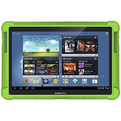 """Amzer Silicone Skin Jelly Case for 10.1"""" Samsung Galaxy Note - Green"""