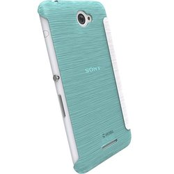 Krusell Boden Flip Cover for Xperia E4 - Baby Blue (90076)