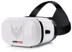 Aduro VR 1000 3D Virtual Reality Glasses Headset, Suitable for 4.7-6.0 in Smartphones for Movies / Games / Viewing w/ 360 Panoramic Viewing Angle