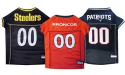 Mirage Pet NFL AFC Mesh New York Jets Jersey - Teal - Size: Large