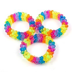 Fun Express - Beaded Rainbow Bracelets - BULK (1-Pack of 12)