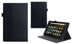 Roocase Dual View Folio Case Cover Stand for Fire HD 10 - Black