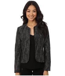 Anne Klein Women's Metallic Jacquard Blazer - Black Combo - Size: 6