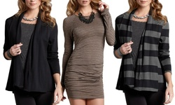 Tart Collections Women's Dee Wrap Dress - Black Sparkle - Size: S
