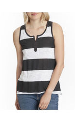 Unionbay Junior's Camden Tank Top - Black/White - Size: Large