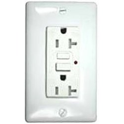 Hubbell Wiring Systems GFCI Duplex Receptacle w/ Auto Grounding (GFTR20W)