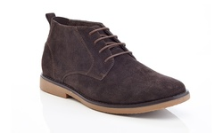 Adolfo Morris Men's Leather Suede Chukka Boots - Brown - Size: 9.5
