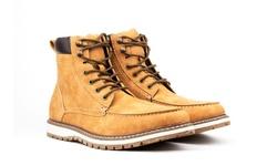Vincent Cavallo Men's Moc Toe Boots - Tan - Size: 7