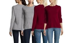 Gabriella Rossi Women's Cashmere Crewneck Sweater - Deep Claret - Size: S