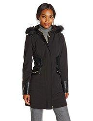 Via Spiga Women's Softshell Jacket with Hood - Black - Size: Large