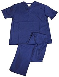 Women's Scrub Set Medical Scrub Top and Pant - True Navy - Size: X-Small
