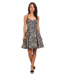 French Connection Women's Moire Meadow Luxe Dress - Multi - Size: 8