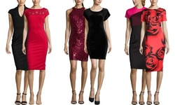 Sable & Zoe Women's Sequin Cocktail Dress - Burgundy - Size: Small