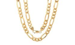 Sterling Essentials 18K Gold Plated Heavyweight Chain in Sterling Silver