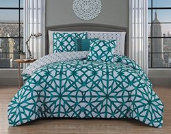 Avondale Manor VLL5CSKINGGHTL Villa 5Pc Comforter Set - King - Teal,King