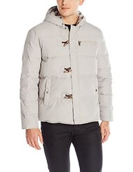 Kenneth Cole New York Men's Toggle Down Jacket - Stone - Size: Medium