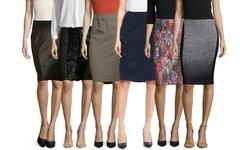 Byron Lars Women's Faux Leather Pencil Skirt - Espresso - Size: 2