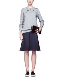 Pink Tartan Women's Jewel Bug Sweatshirt - Gray - Size: Medium