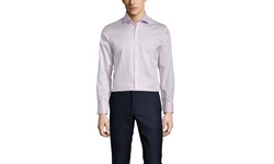 Vince Camuto Men's Sateen Slim Fit Dress Shirt - Hibiscus - Size: 15-1/2