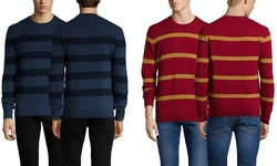 Ben Sherman Men's Stripe Sweater - Red Setter - Size: Small