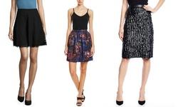 Catherine Malandrino Women's High Waisted Skirt - Multi - Size: 2