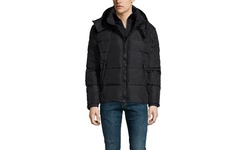 S13 Matte Downhill Puffer with Detachable Hood - Black - Size: Large