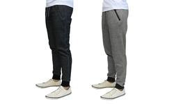 Harvic Men's Tech Fleece Slim Fit Joggers - Heather Grey - Size: Medium