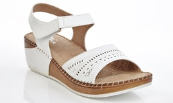 Lady Godiva Women's Comfort Wedge Sandal - White - Size: 9