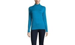 Cable & Gauge Long Sleeve Turtleneck Tees - Peacock Feather - Size: Small
