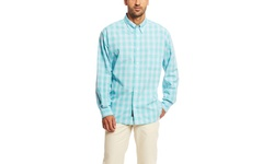 Bill's Men's Classic Fit Plaid Long Sleeve Shirt - Mint - Size: Large